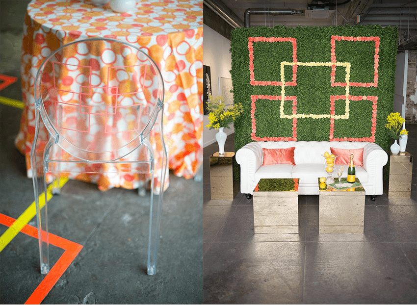 Summertime party with geometric details