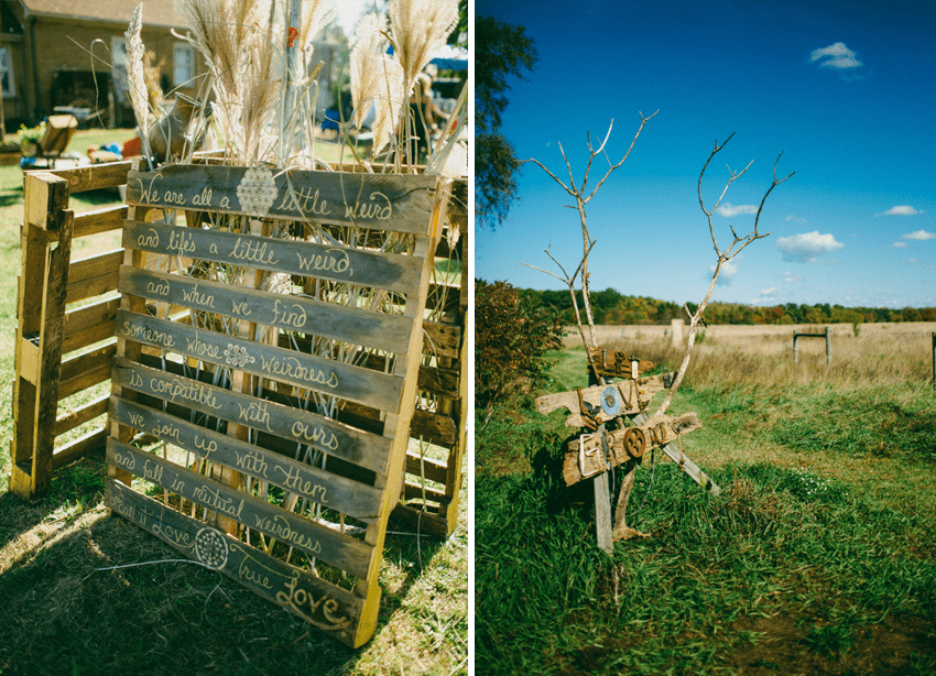Hand-painted palettes and homemade #DIY decor for this breathtaking bohemian farm wedding