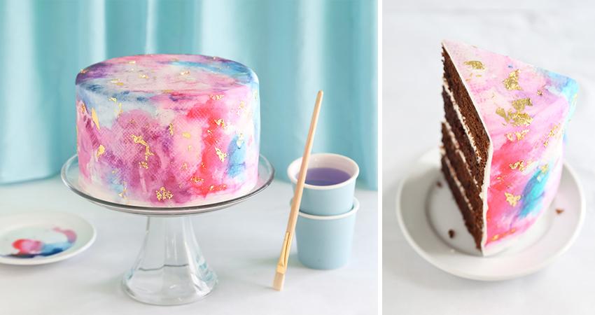 watercolor cake blog post image