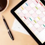 business desk event planning