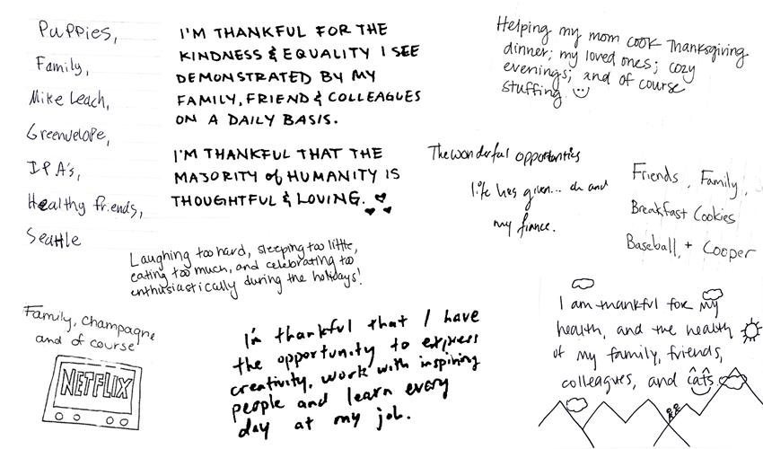 What we are thankful for2