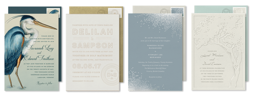 colin cowie collection of wedding invitations