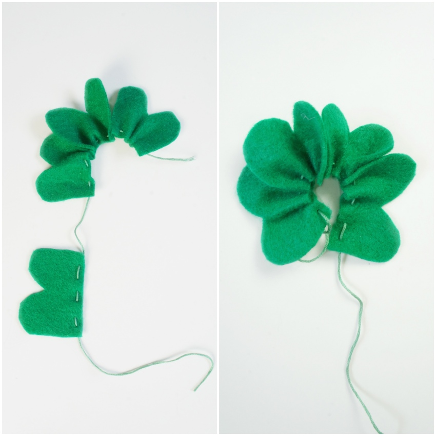 St. Patrick's Day DIY Clover Brooch