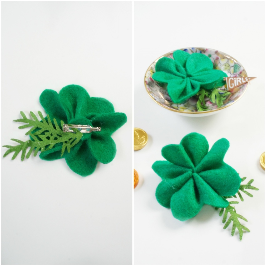 DIY Clover Brooch for St. Patrick's Day