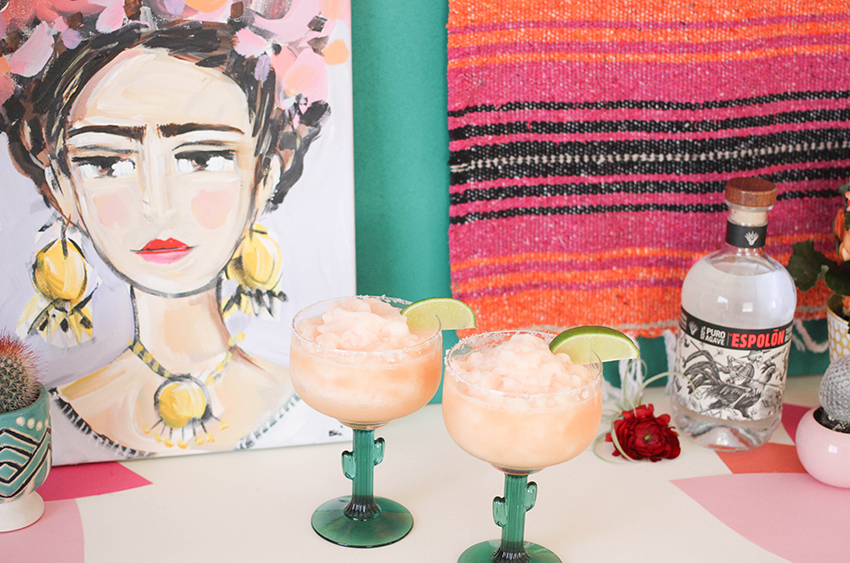Grapefruit-Lime Tequila Slushies! | Cinco De Mayo party inspiration from Greenvelope + Dandy & Fine Parties