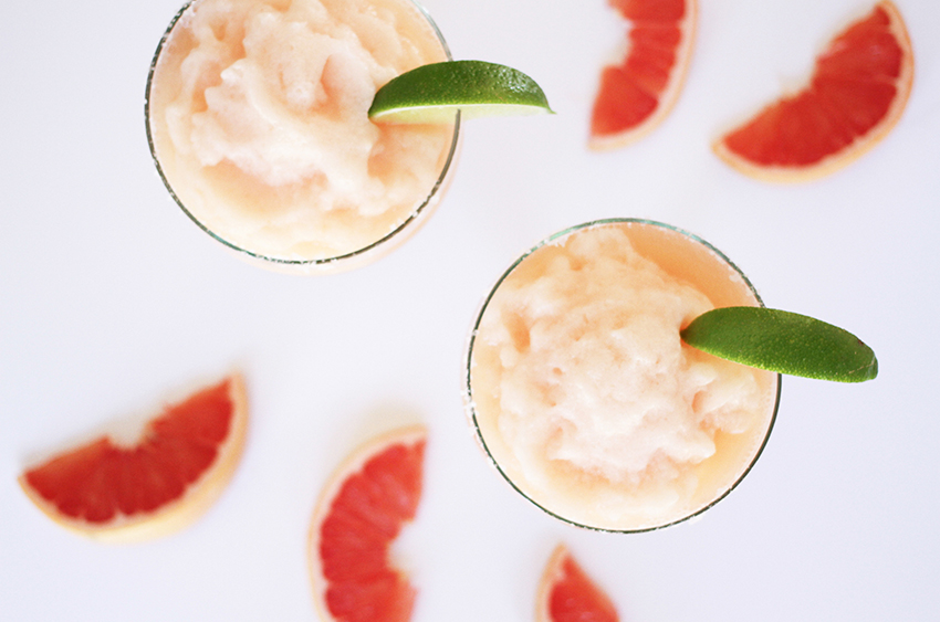 Grapefruit-Lime Tequila Slushies | Cinco De Mayo party inspiration from Greenvelope + Dandy & Fine Parties