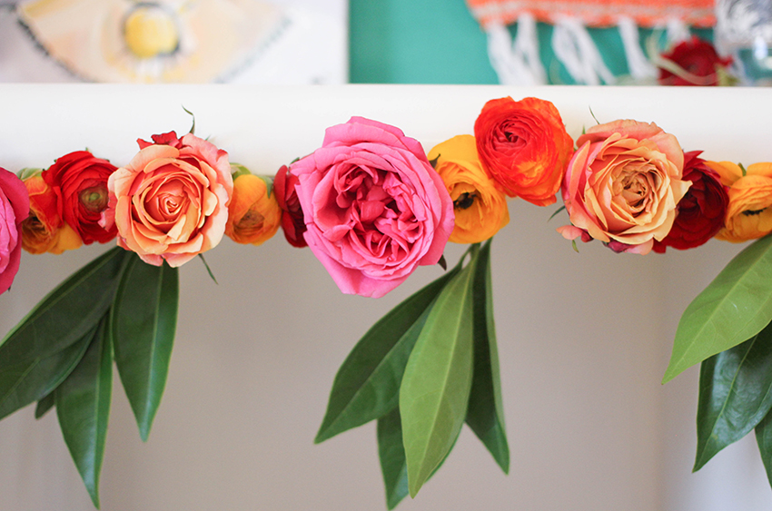 Vibrant flower garlands are perfect decor for your Cinco de Mayo party | Cinco De Mayo party inspiration from Greenvelope + Dandy & Fine Parties