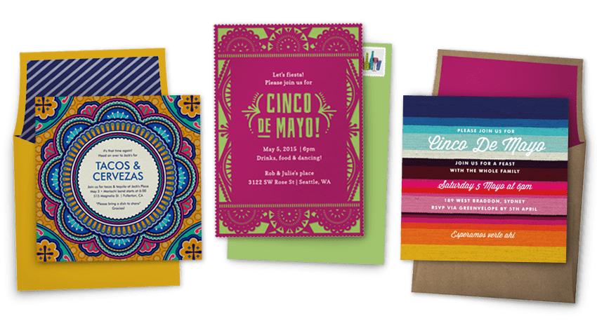 Cinco De Mayo invitations | Cinco De Mayo party inspiration from Greenvelope + Dandy & Fine Parties