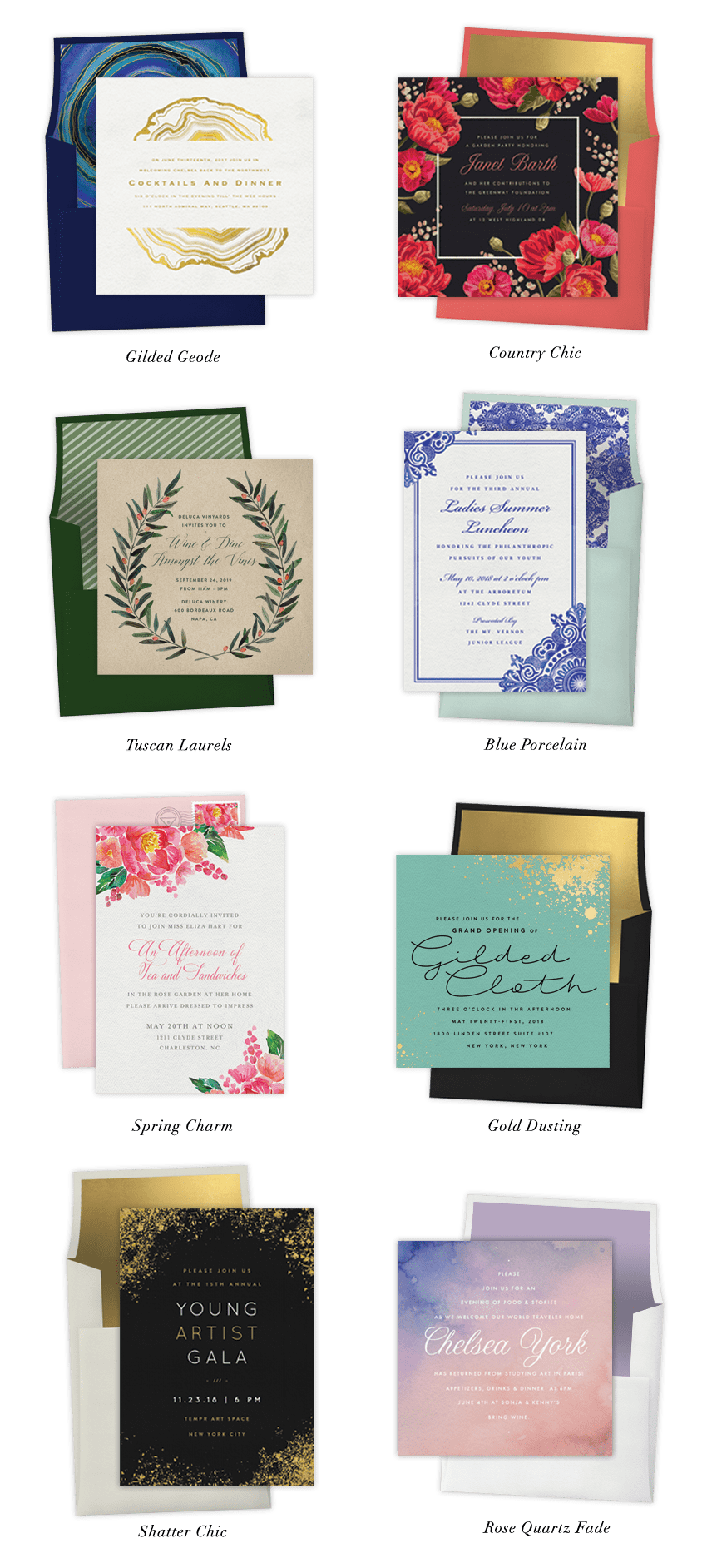 New Colin Cowie Entertaining Invitation collection