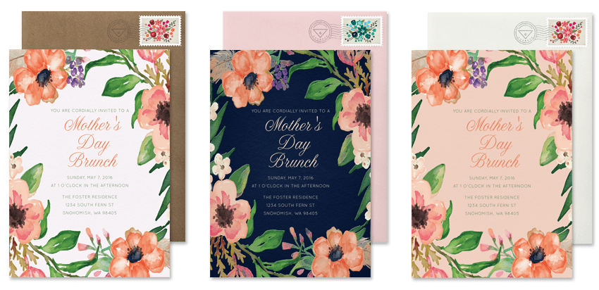 Mother's Day invitations and brunch invitations