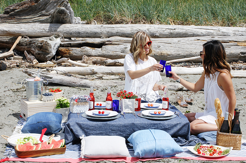 4th of July beach picnic inspiration