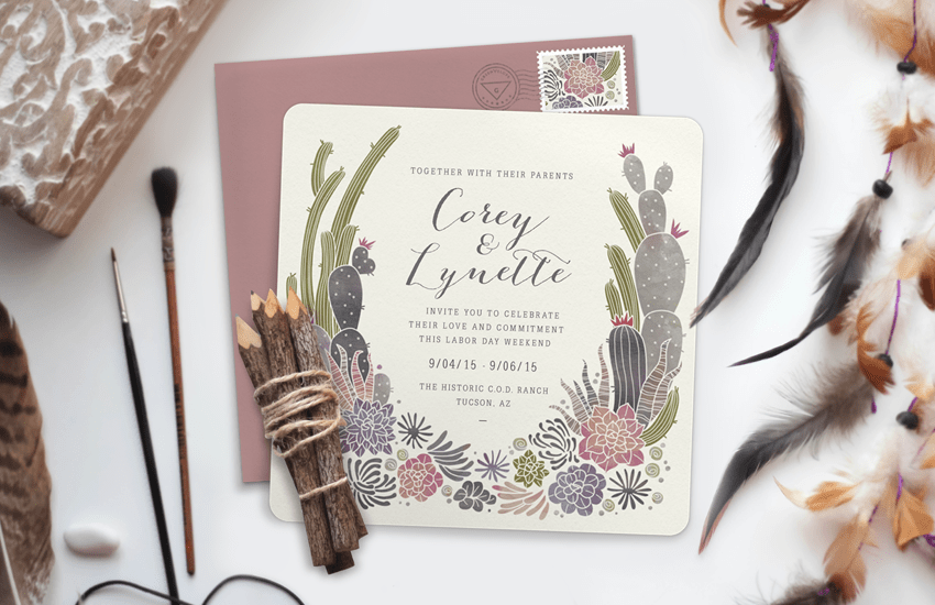 Lynette Cenee Wedding Invitation