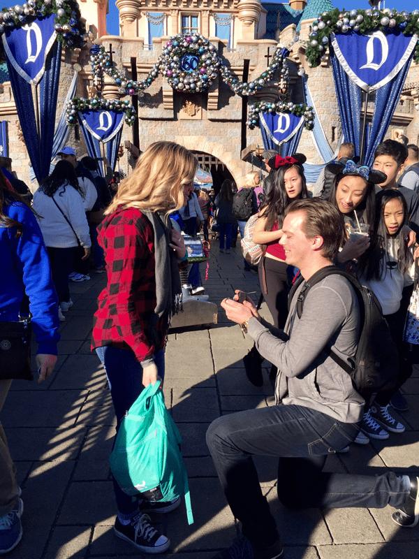 Kristin and Dakota Disneyland Engagement