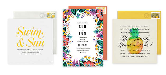 Planning a summer luau dinner party at home