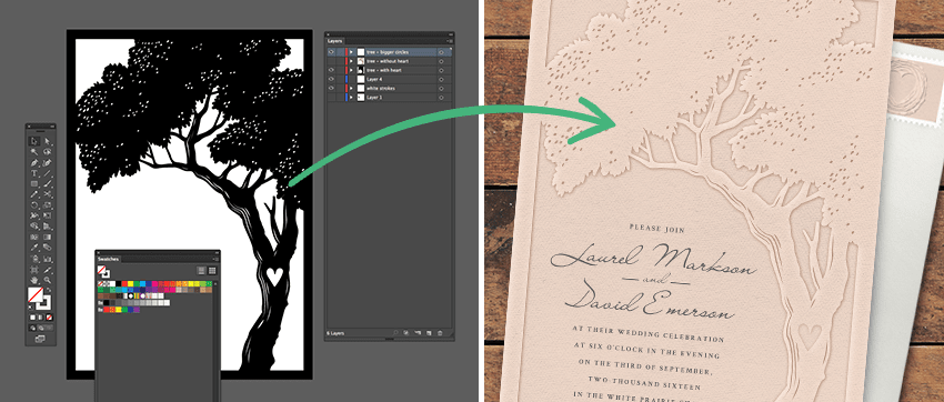 How to create a letterpress effect digitally
