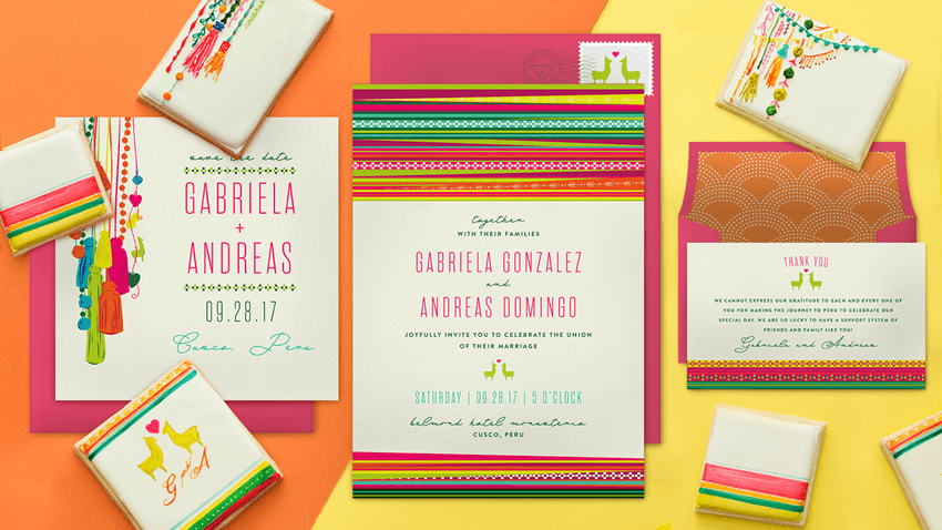 Llama Love digital invitations from Greenvelope and Sogi's Honey Bakeshop