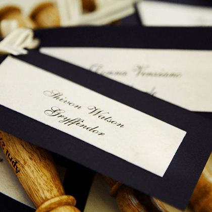Harry Potter Wand Escort Cards