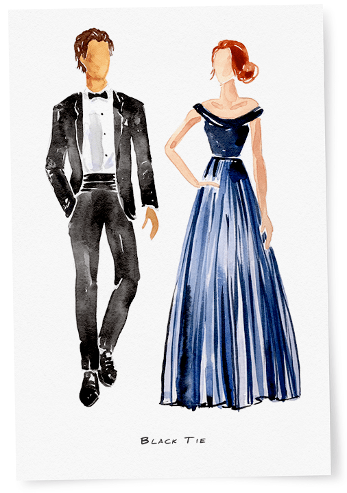 What To Wear A Black Tie Wedding