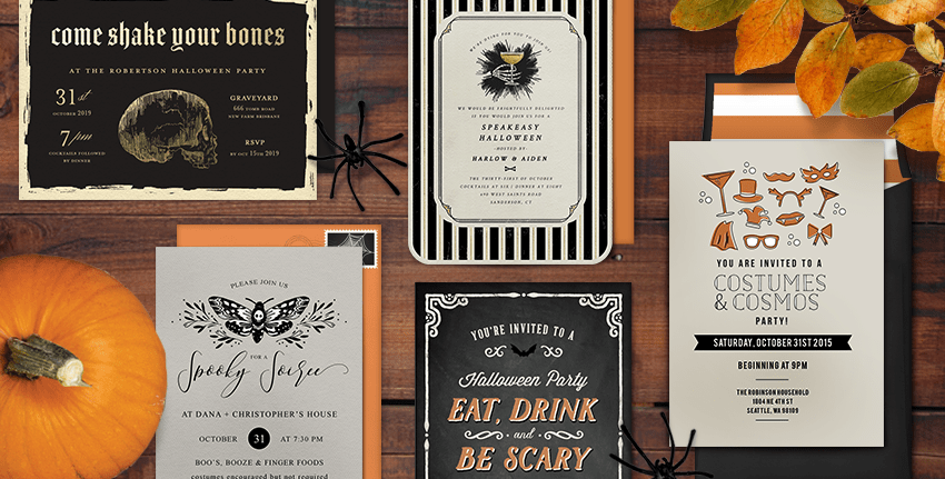 Halloween Party themes and invites