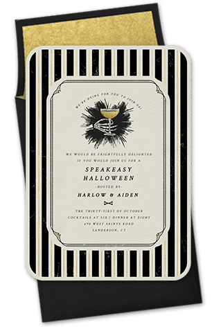 Speakeasy Halloween Invitation