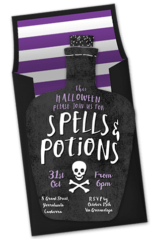 Spells and Potions Invitation