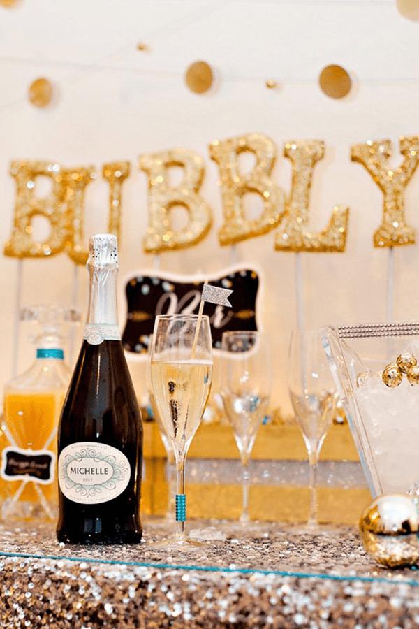 DIY Bubbly Bar