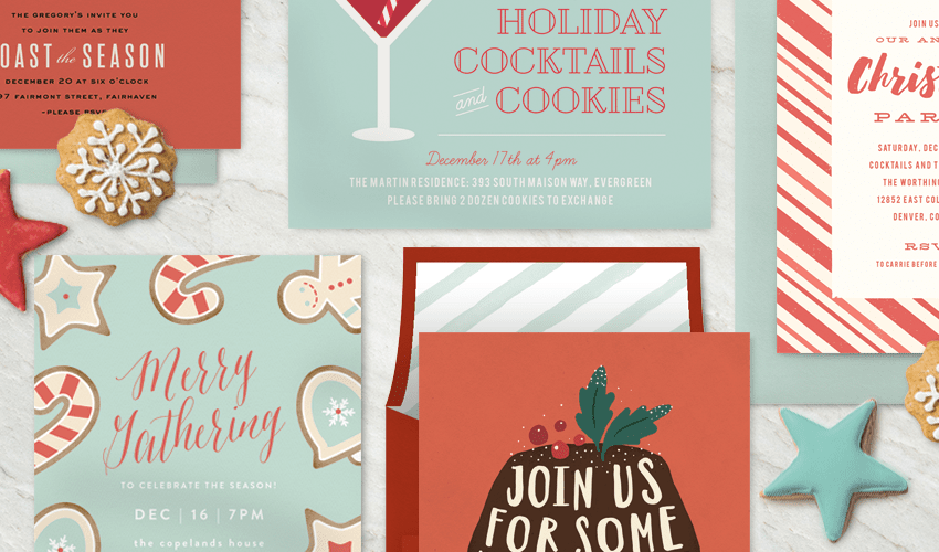 Holiday Cookie Parties and Party Invitations