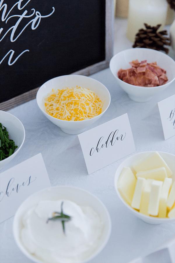 DIY Mashed Potato Bar