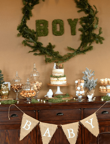 woodland baby shower theme