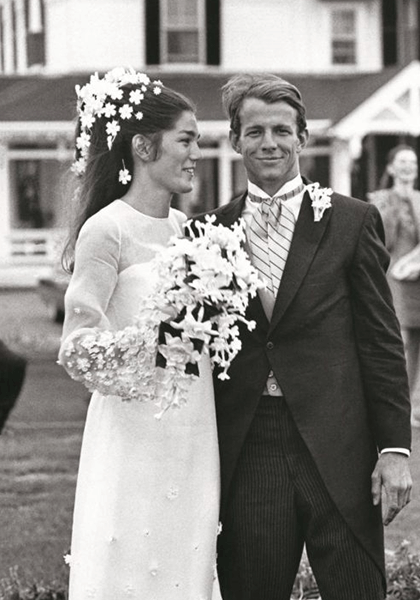 Vintage photo of a bride and groom
