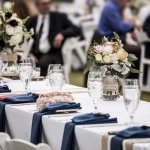 Wedding seating chart: Place settings at a wedding reception