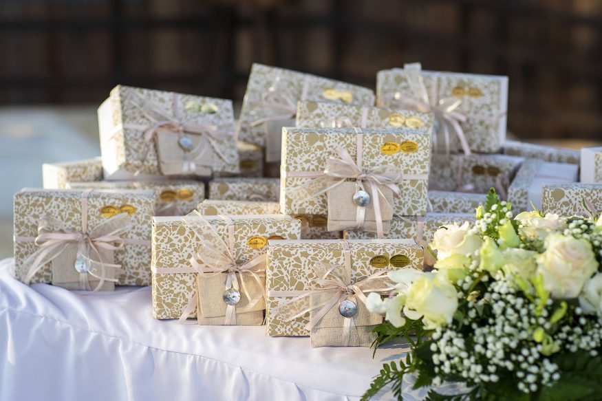 Wedding registry ideas: a pile of wedding gifts