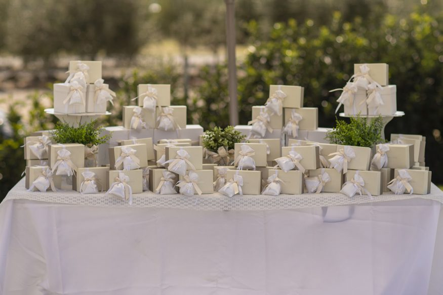 Wedding registry ideas: a table of wedding gifts