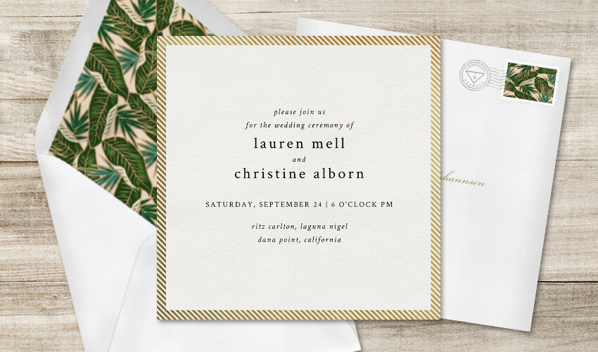 The Anatomy of a Perfect Wedding Invitation