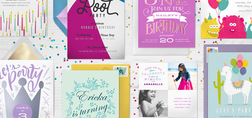 6 most popular birthday party templates for kids stationers