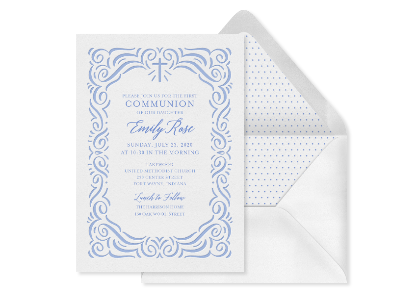 Popular Communion Invitation Designs for Every Style