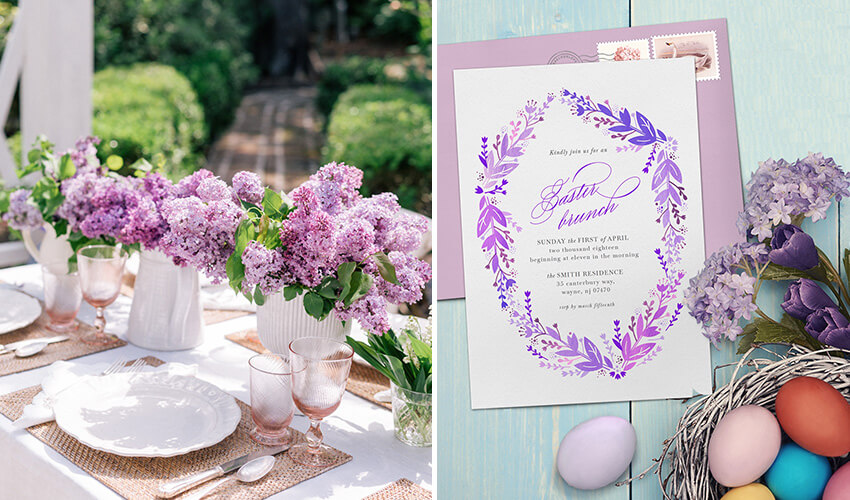 Easy Ideas and Invites for a DIY Springtime Easter brunch Party