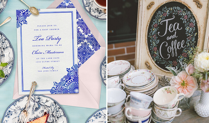 Easy Ideas and Invites for a DIY Springtime tea party baby shower