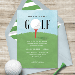 Organizing a golf tournament with digital invite
