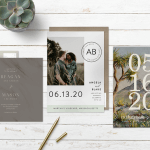 Save the date wording: three cards and a pen