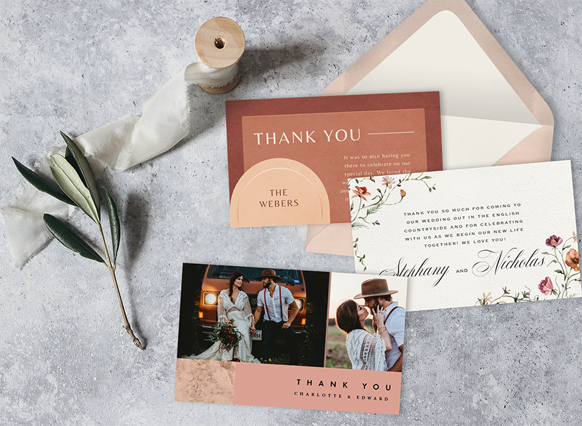 Our Sweet And Simple Guide To Sending Wedding Thank You Cards