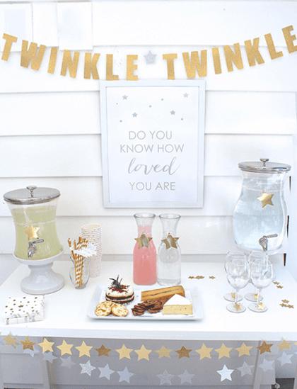 Winter baby shower twinkle twinkle