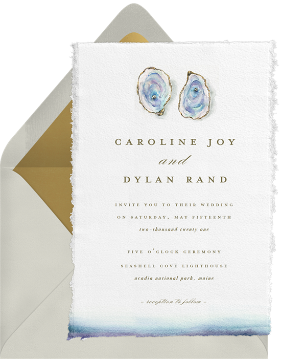 Beach wedding invitations: the Acadia invitation design from Greenvelope