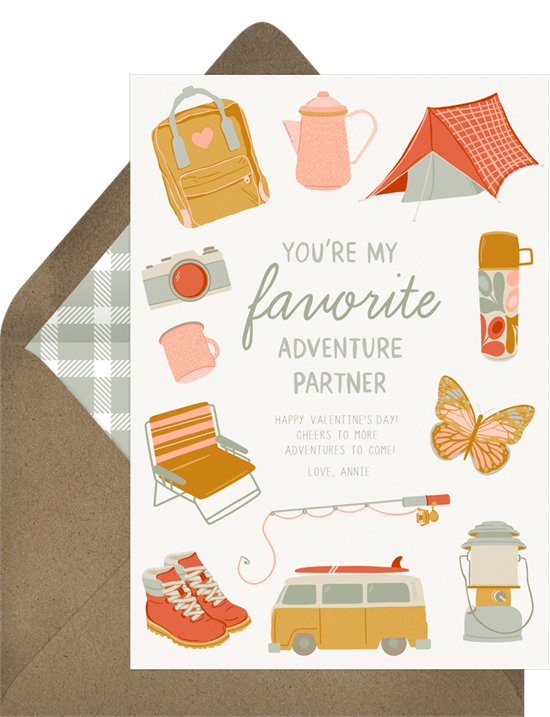 Favorite Adventure Partner Valentine's Ecard from Greenvelope