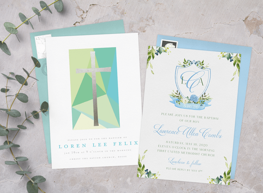 15 Baptism Invitations To Bless Your Bundle Of Joy