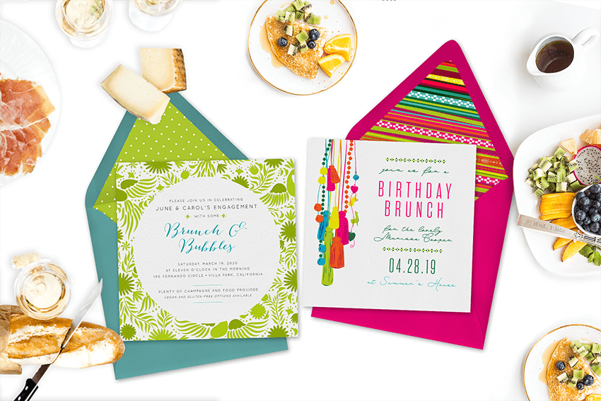 brunch party invite template