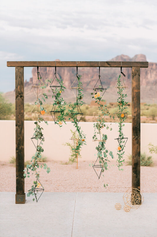 ceremony fall backdrop