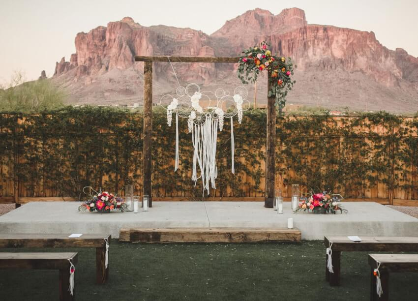 wedding backdrop for ceremony