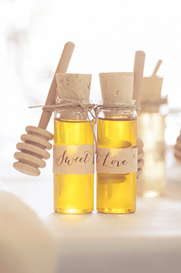 diy local honey wedding favor