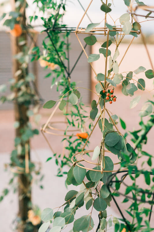 easy fall wedding ceremony backdrop